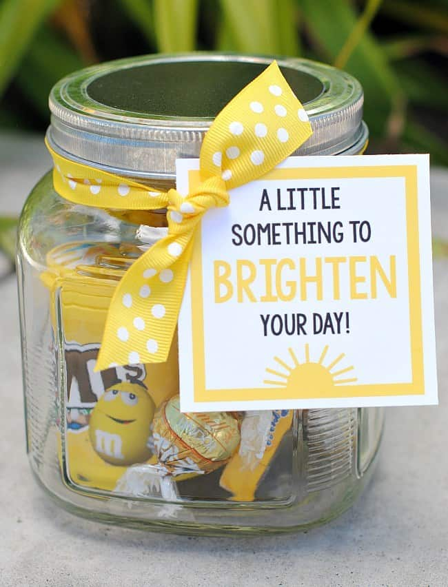jar filled with yellow treats