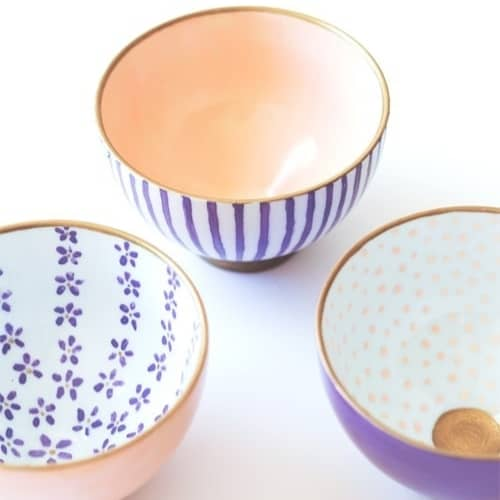painted ceramic dishes