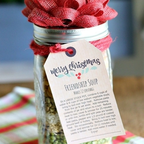 friendship soup mix in a jar gift