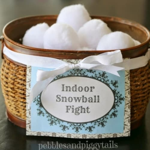 basket filled with large cotton balls