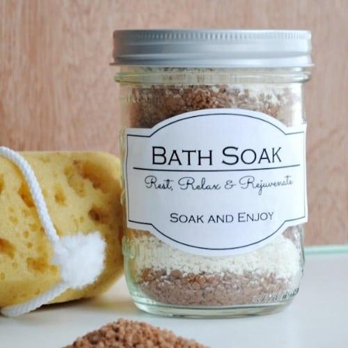 homemade bath soak