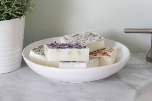 homemade herb soaps
