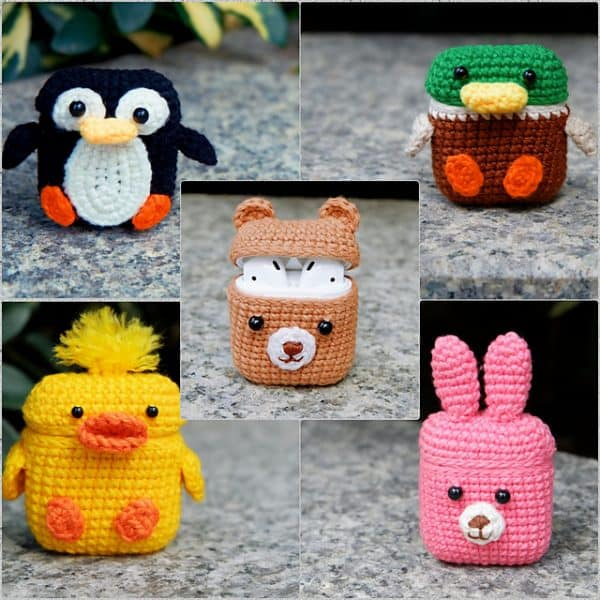 crocheted airpod case covers