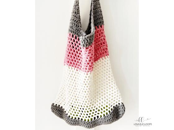 crocheted shopping bag