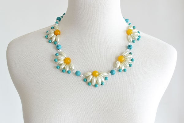 diy daisy necklace
