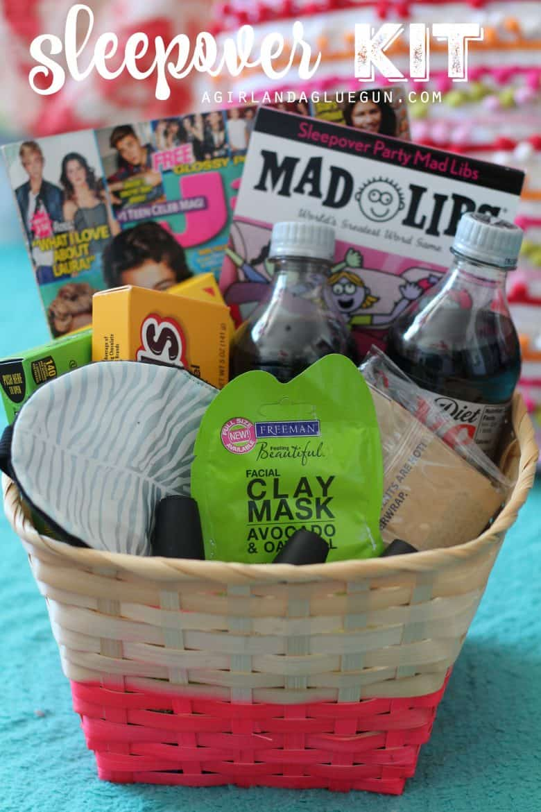 basket filled with teen gifts