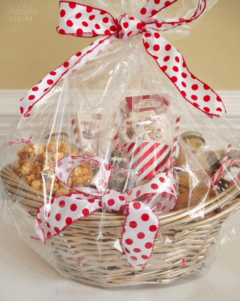 basket filled with goodies