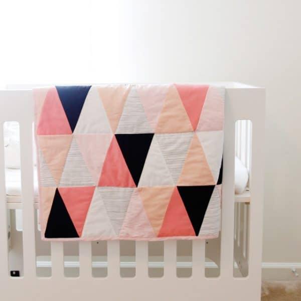 geometric baby quilt diy