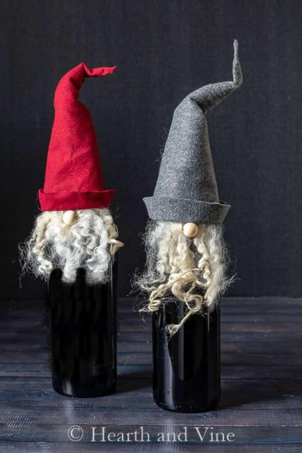 gnome wine bottle toppers