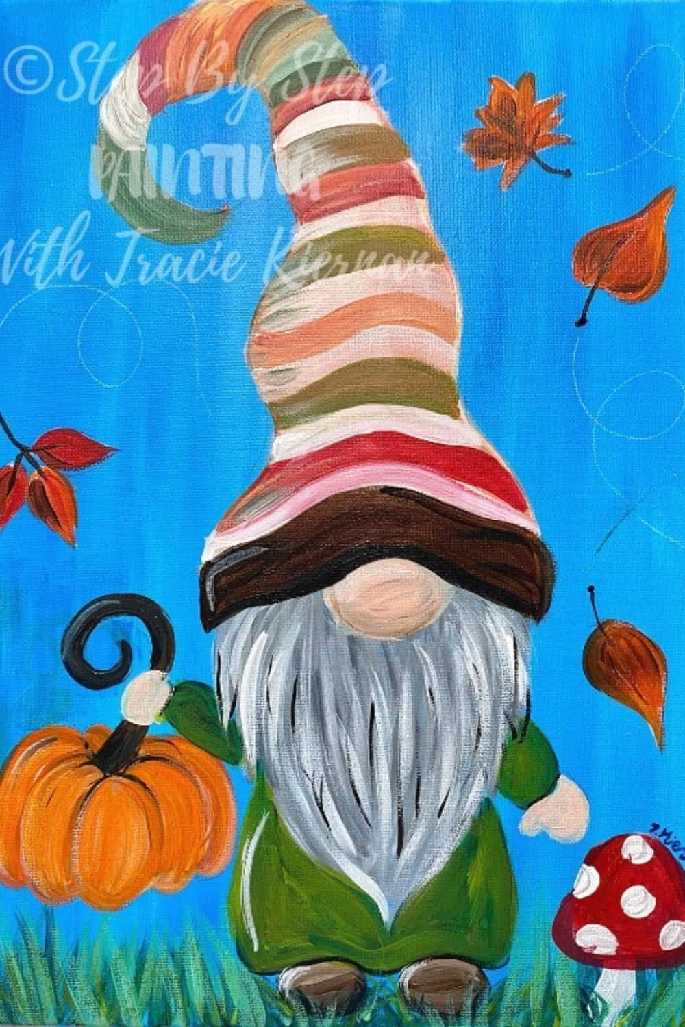 fall gnome painting