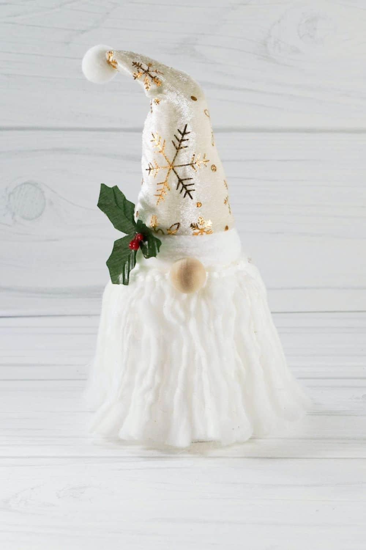 white Christmas gnome