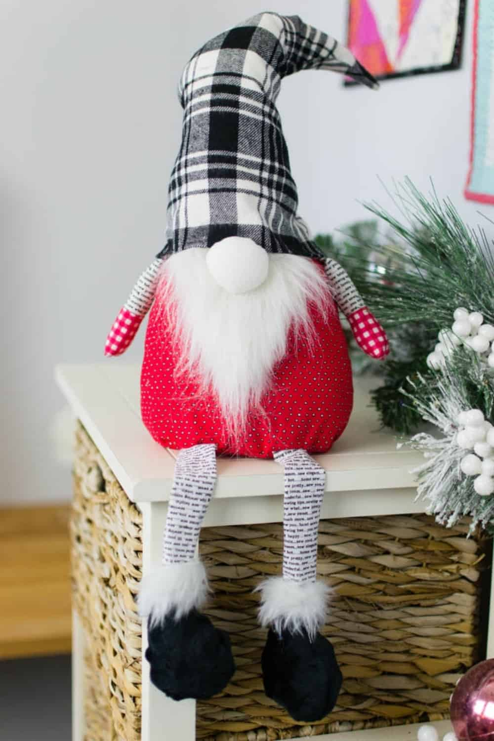 Christmas gnome with legs