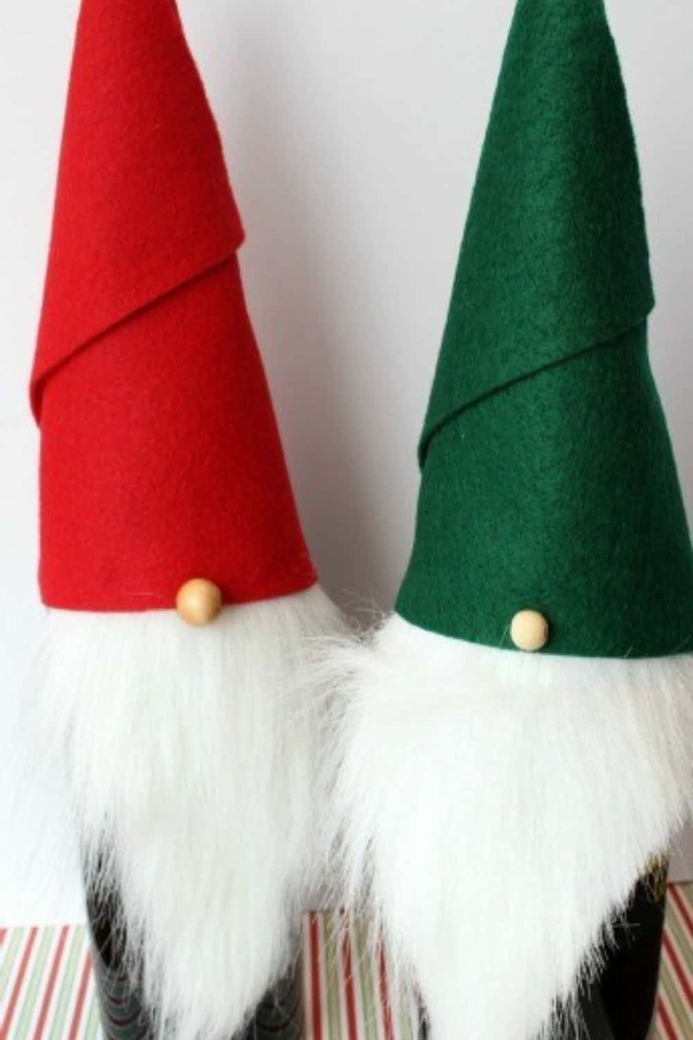 christmas gnome bottle toppers