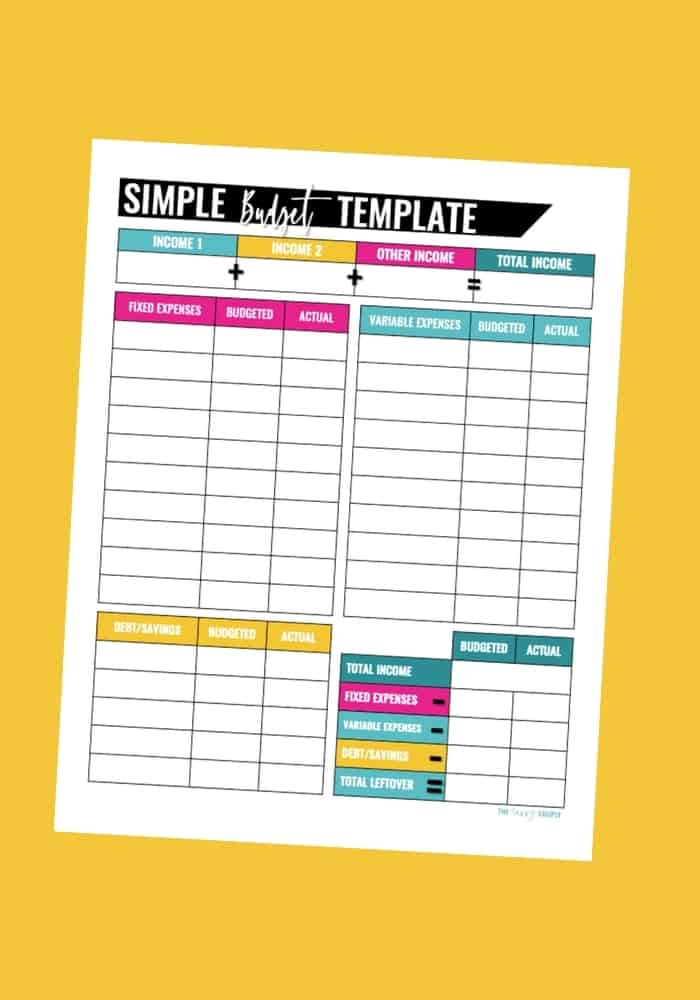 20 Free Printable Budget Templates: Manage Your Money In ...