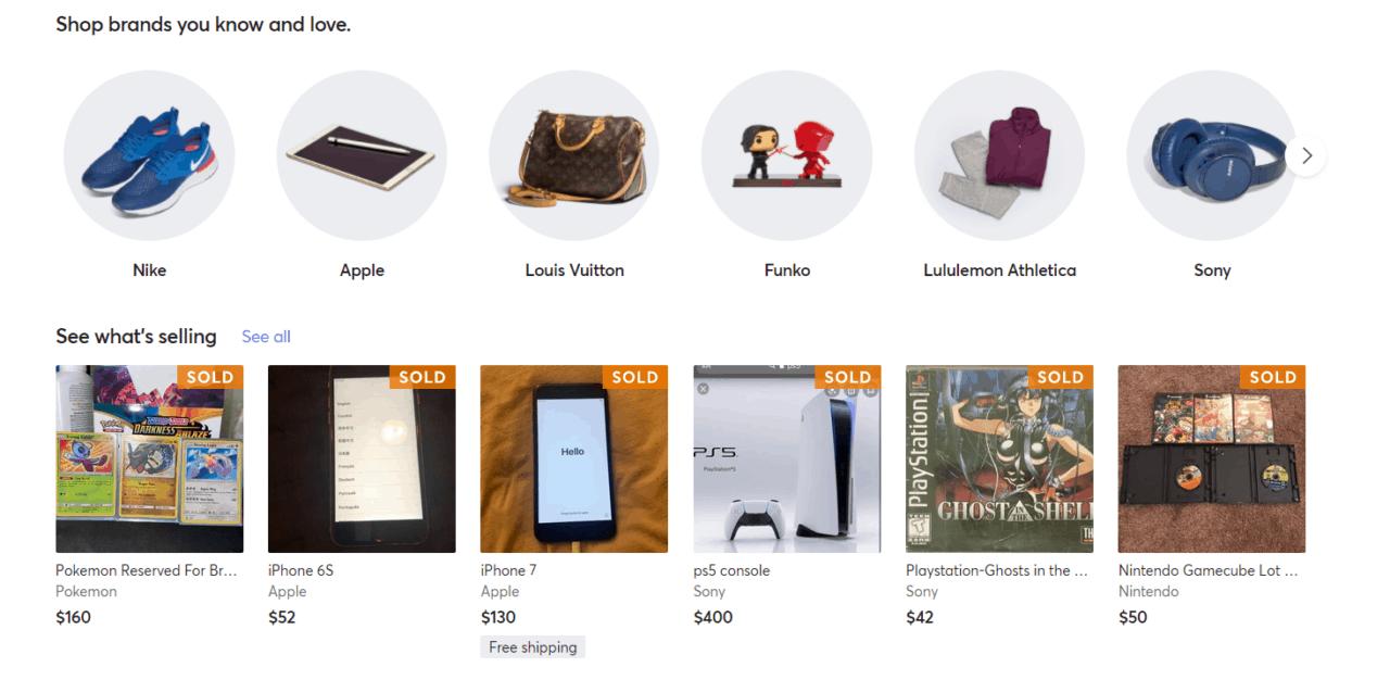 Mercari screenshot-resale shops near me