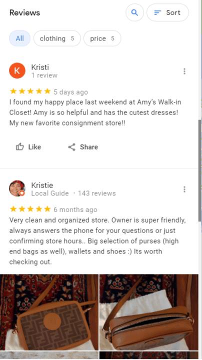 screenshot of resale shops near me reviews
